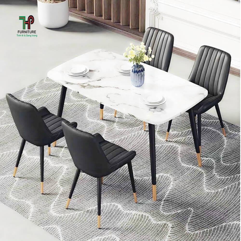 bộ bàn ghế ăn mặt đá (1)