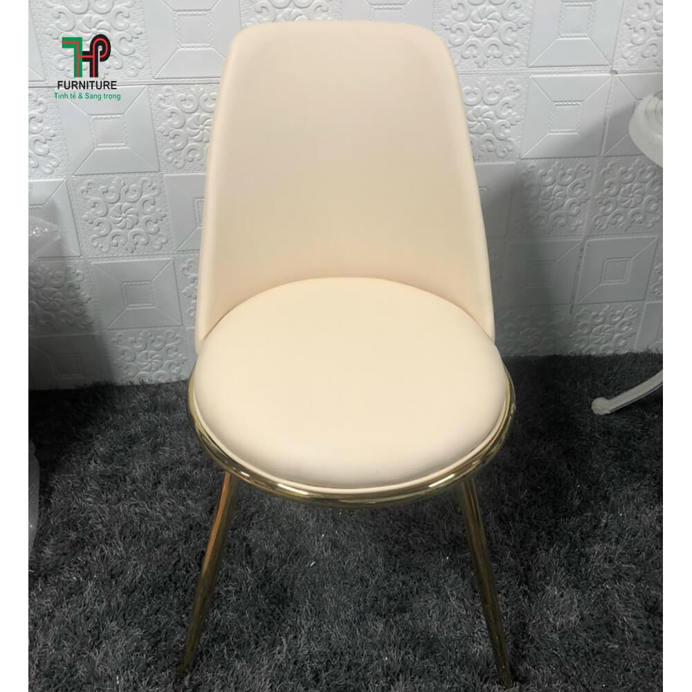 ghế bọc si chân mạ vàng