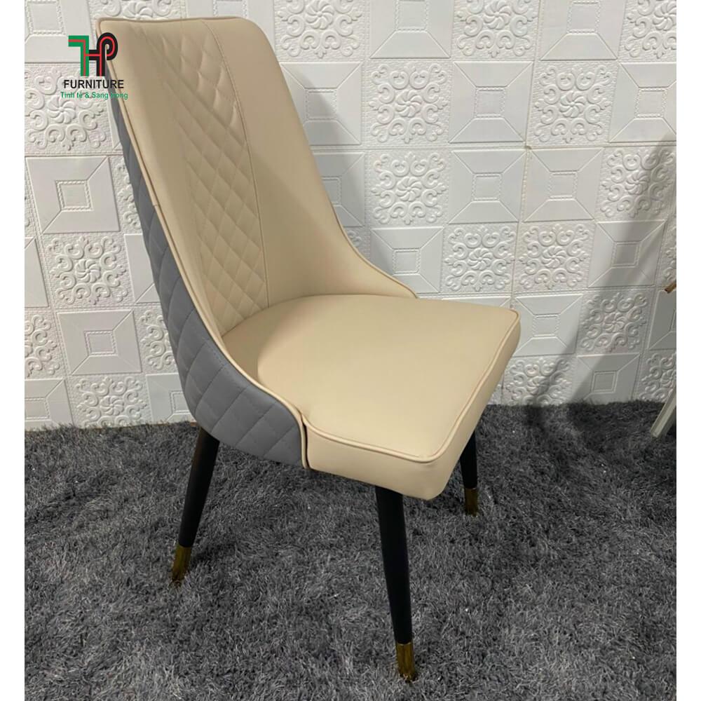 ghế nệm da chân sắt sơn